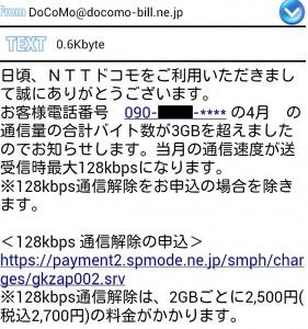 通信制限メール
