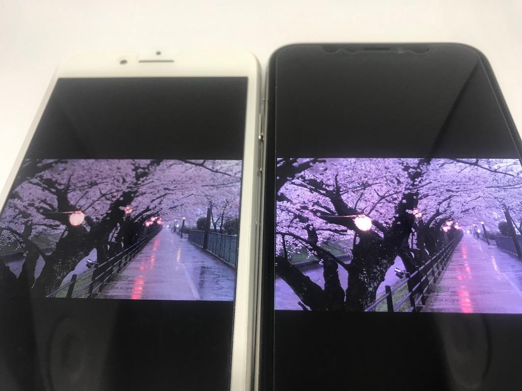 iPhone8 iPhoneX 画質比較