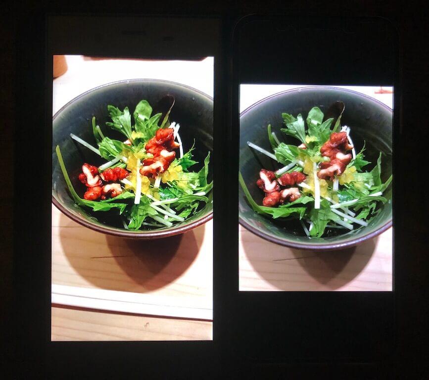 xperia xz1 iPhoneX カメラ比較