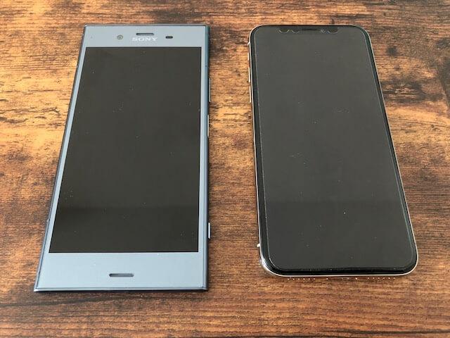 iPhone X Xperia XZ1 デザイン 比較
