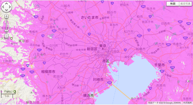 WiMAX 通信エリア