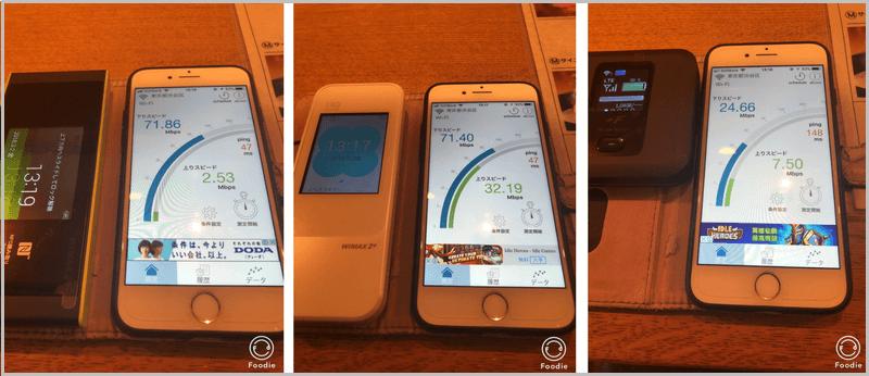 ネクストモバイル 通信速度 計測