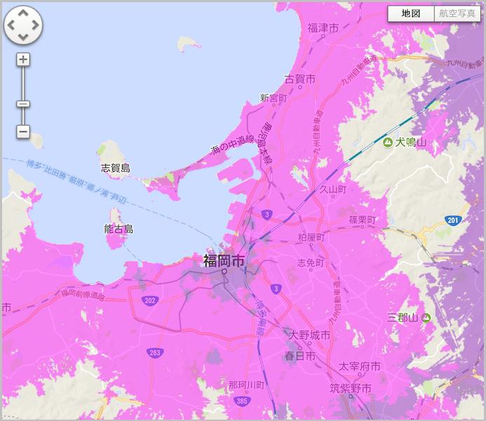 WiMAX 福岡 電波