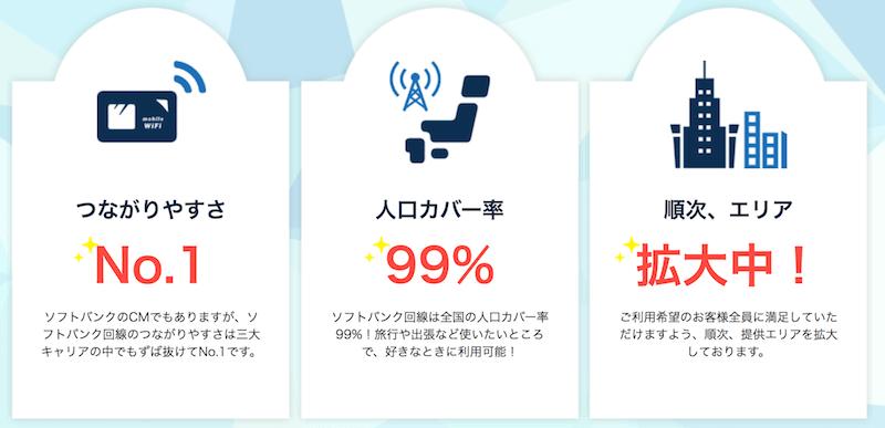 ネクストモバイル 電波