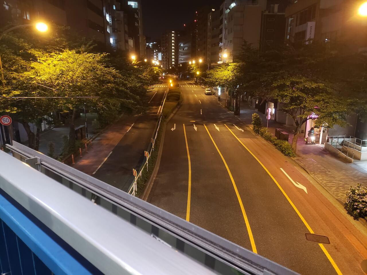 Galaxy S9+ カメラ 夜景