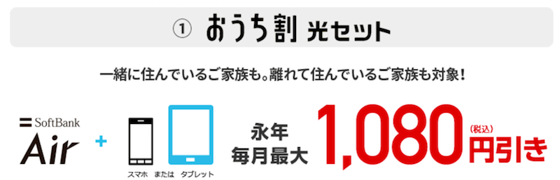 SoftBank Air おうち割光セット