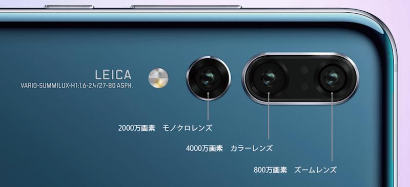 HUAWEI P20 Pro トリプルカメラ