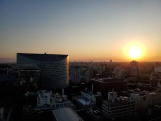 スマホ カメラ 夕日が綺麗