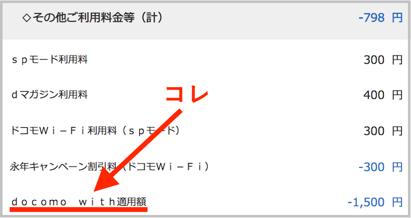 docomo with 確認方法
