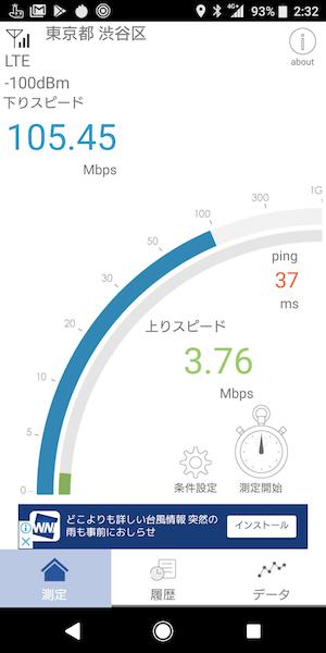 Xperia XZ2シリーズ 通信速度