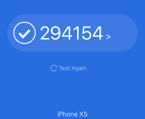 iPhoneXS antutuベンチマーク