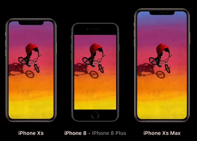 iPhoneXS iPhone8 画面サイズ比較