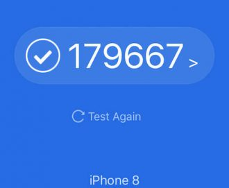 iPhone8 iPhoneXS antutu比較