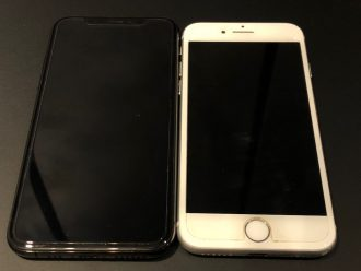 iPhoneXS iPhone8 デザイン比較