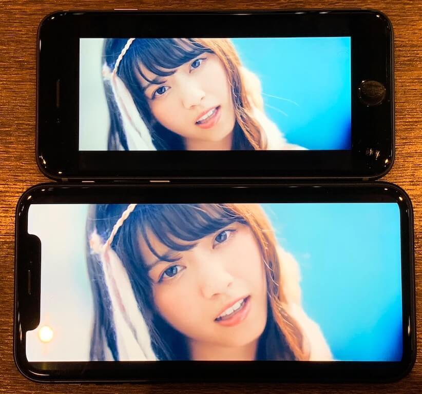 iPhoneXR 画面サイズ 比較