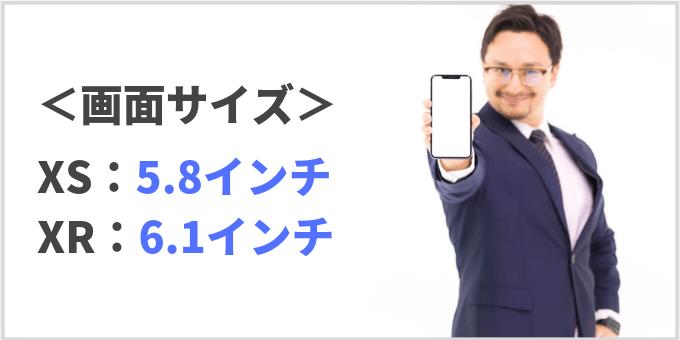 iPhone XR XS 画面サイズ 比較