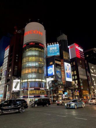 iPhoneXS カメラ 夜景撮影