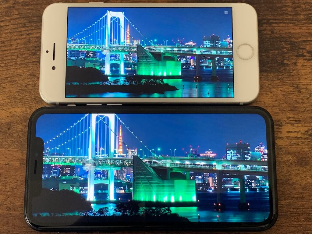 iPhone8 XR 画質 比較