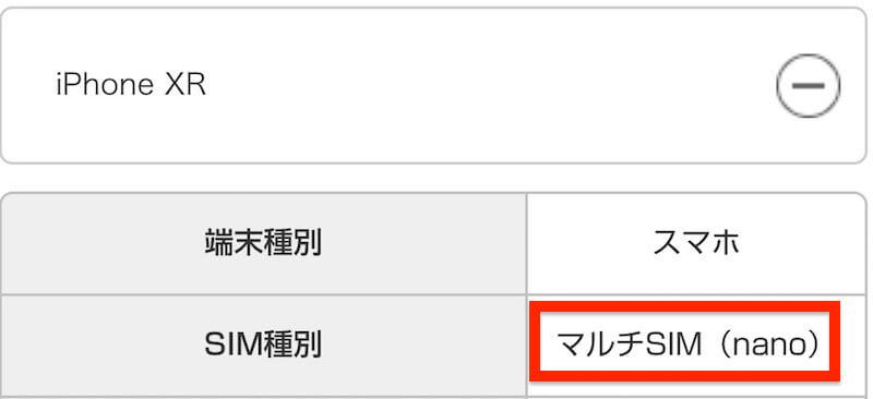 UQモバイル SIM種別の選び方