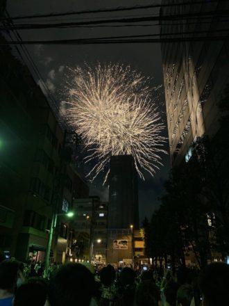 iPhone XS 花火写真