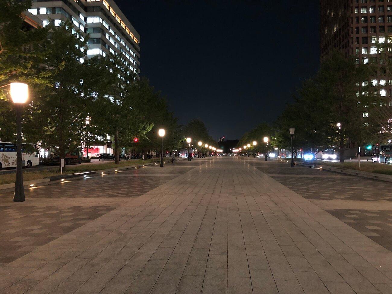 iPhone8 夜景撮影