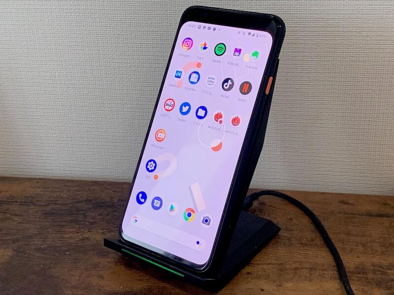 pixel4 ワイヤレス充電