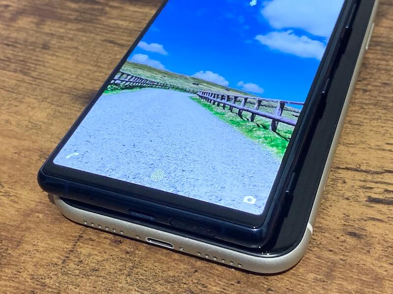 Xperia5 iPhone11 横幅の比較