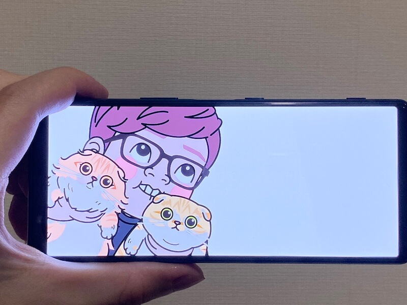 Xperia 5 画面が見やすい