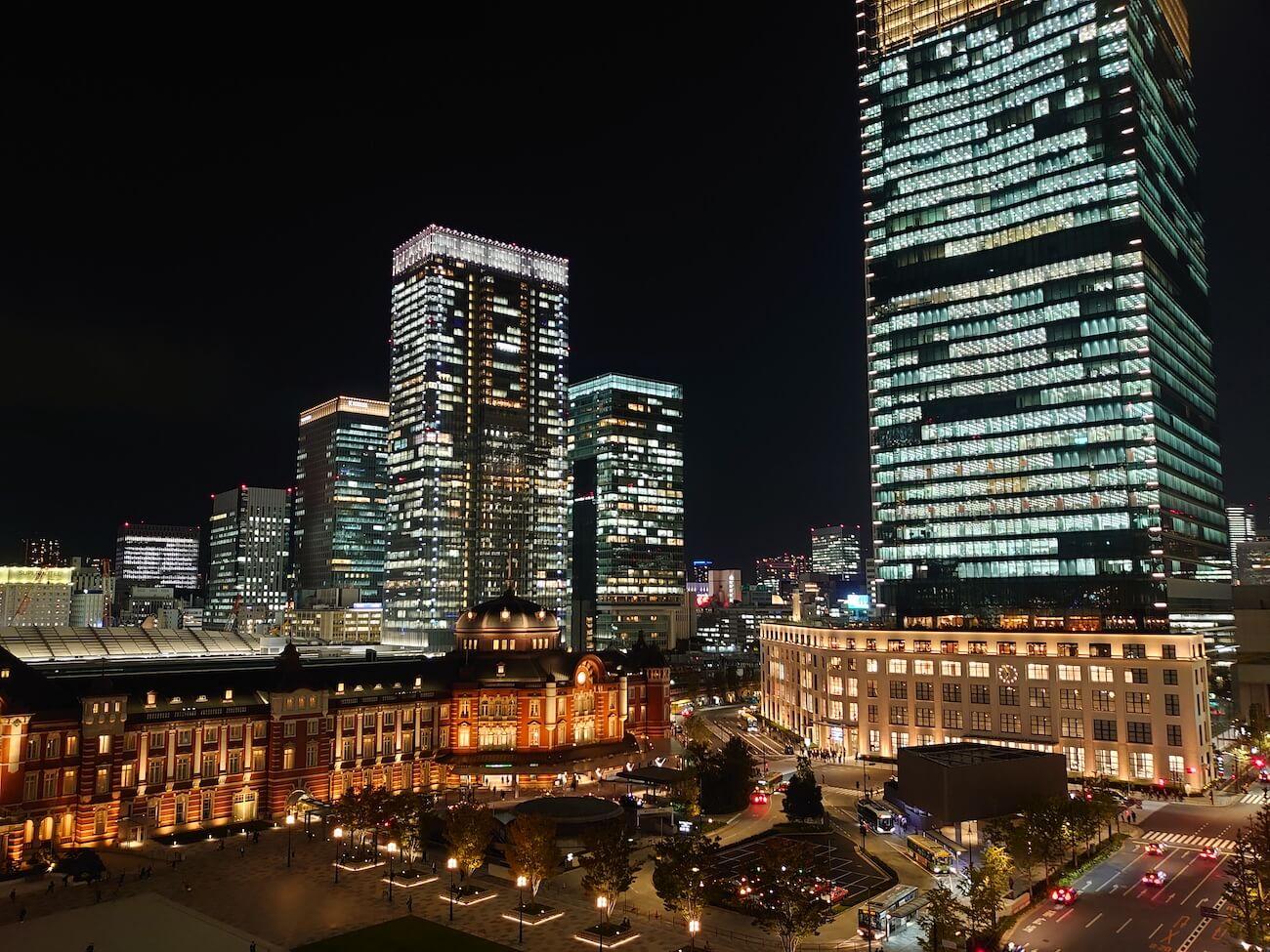 Xperia 5 iPhone 11 夜景撮影 比較
