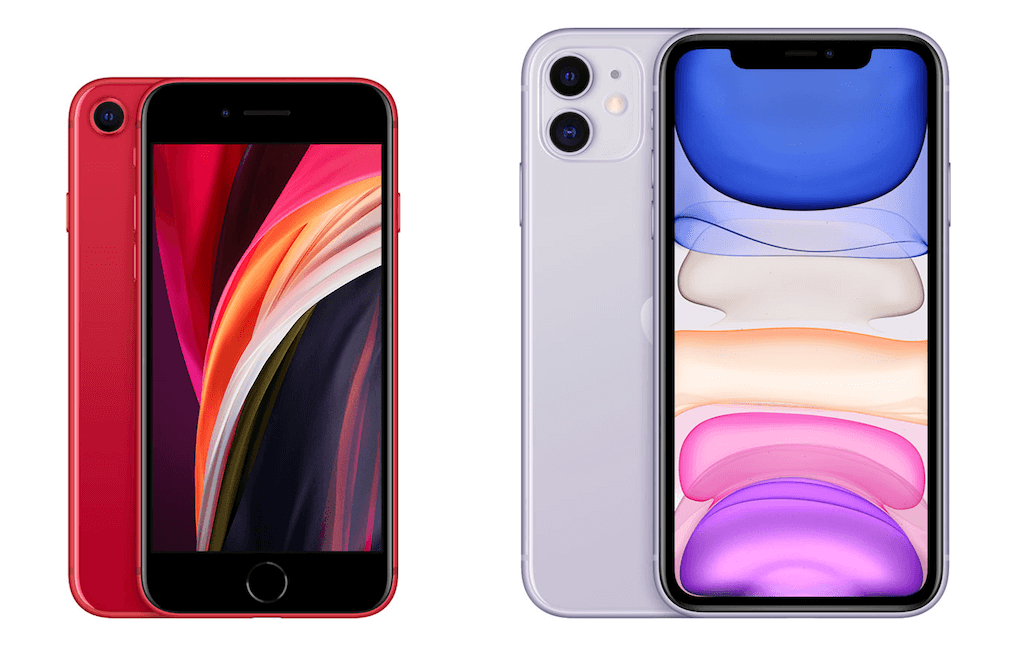 iPhone SE(第2世代) iPhone11 デザイン 比較