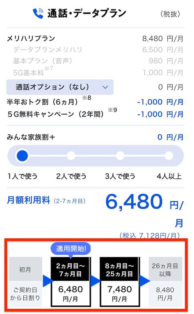 ソフトバンク メリハリプラン 月額料金