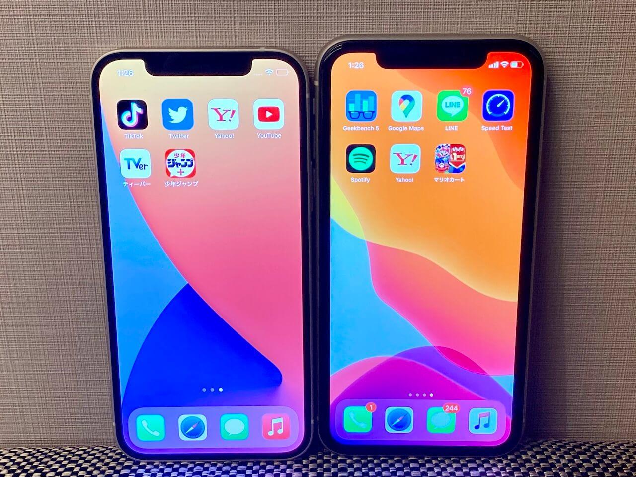 iPhone11 12 画面サイズ 比較