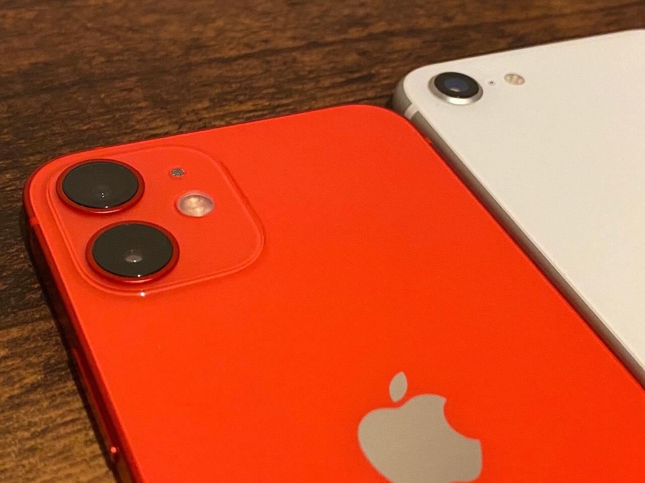iPhone 12mini se カメラ 比較