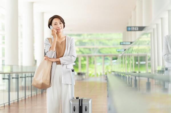 短期の出張や旅行に便利