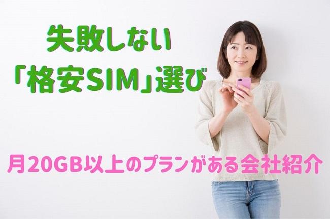 失敗しない 「格安SIM」選び